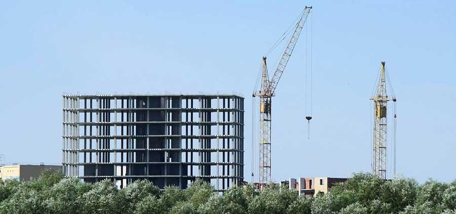 В Москве начались строительные работы.